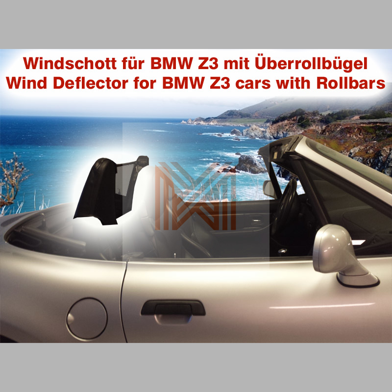 Bmw Z3 Wind Deflector: BMW Z3 Roadster Convertible Roll Bar Wind Diffuser