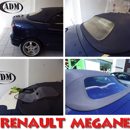 Renault Megane Convertible rear window with zipper in clear without tint BJ (1998-2002)