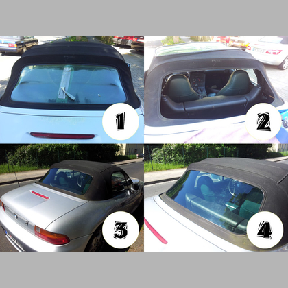 BMW Z3 Convertible rear window PVC New transparent clear no tint