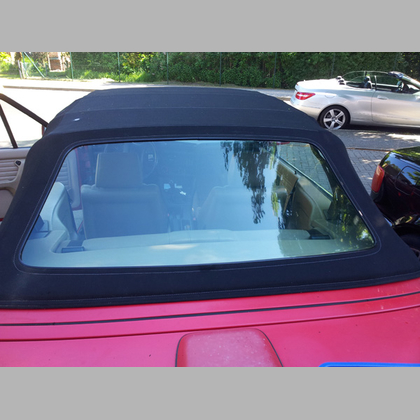 BMW E30 Convertible rear window in clear no tinted