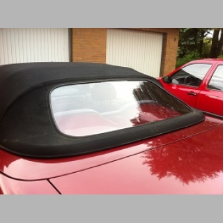 Convertible rear window